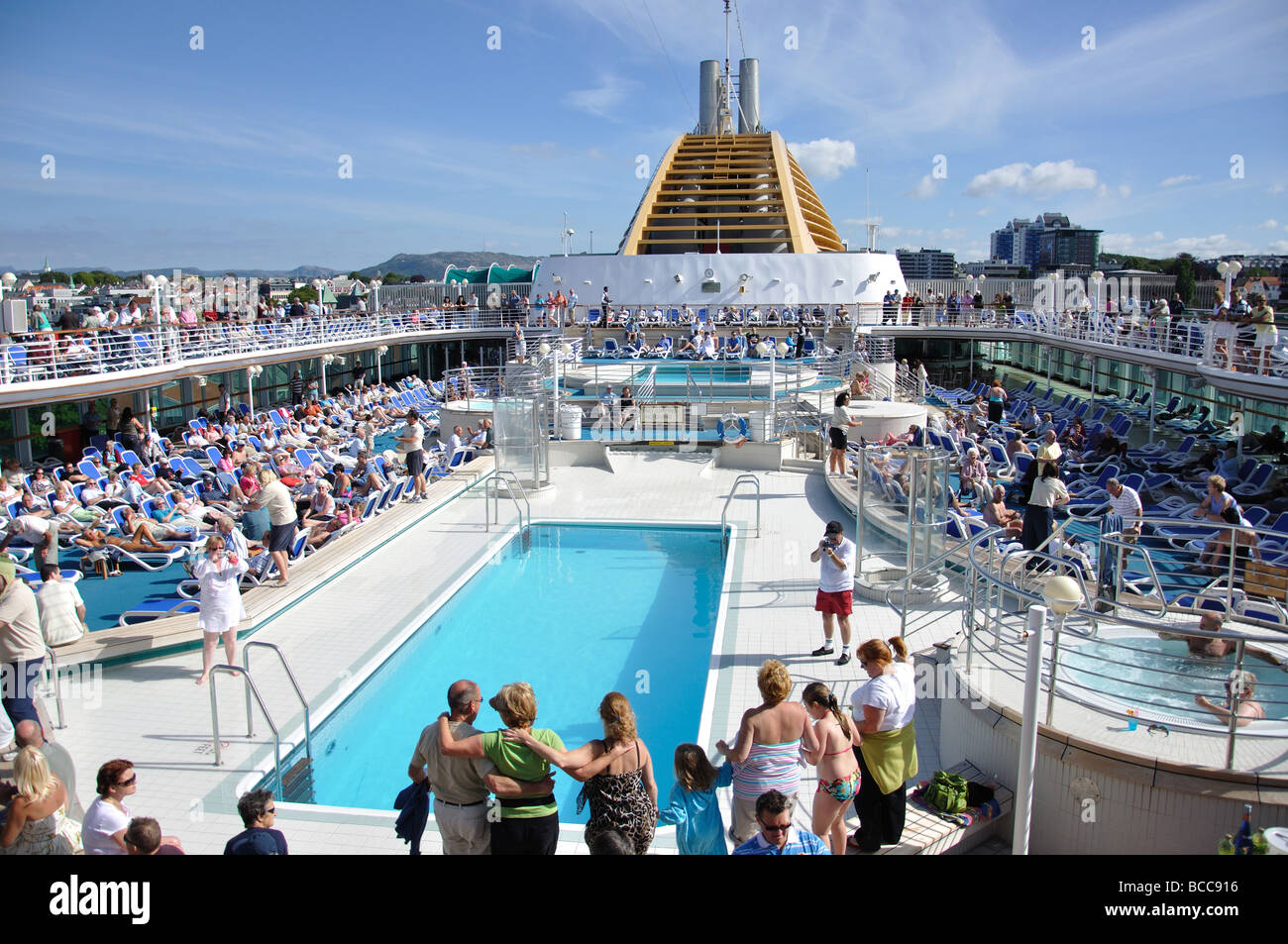 Party On Sundeck PO Oceana Cruise Ship Stavanger Rogaland - Cruise ship party