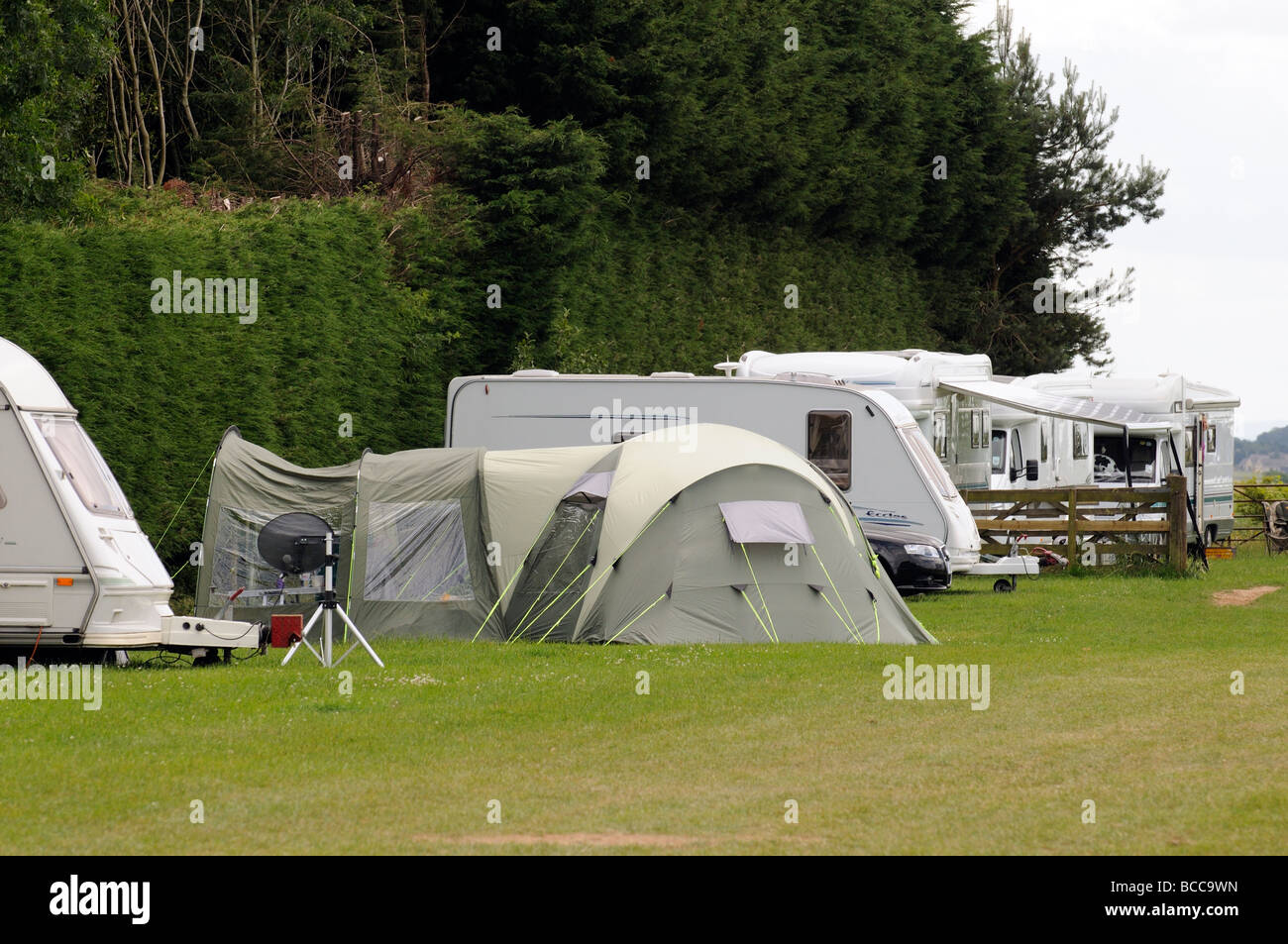 C&ing and caravanning in The Cotswolds visitors seen here at the Cotswold Farm Park at Guiting Power Gloucestershire & Camping and caravanning in The Cotswolds visitors seen here at the ...