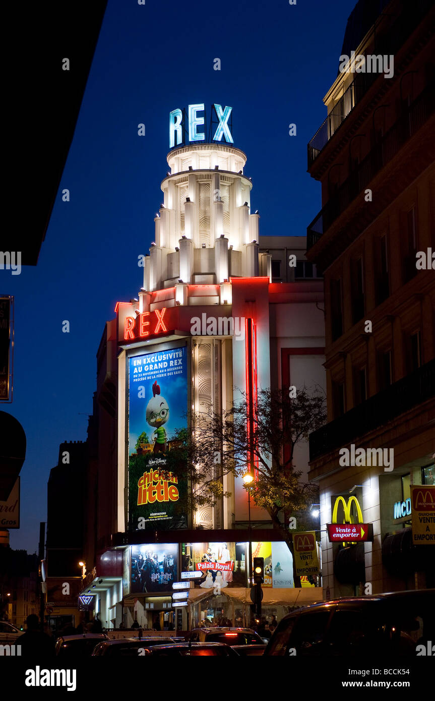france paris le grand rex cinema stock photo 24864704 alamy. Black Bedroom Furniture Sets. Home Design Ideas