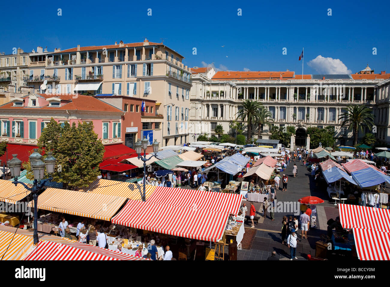 france alpes maritimes nice old town cours saleya and antiques stock photo royalty free. Black Bedroom Furniture Sets. Home Design Ideas