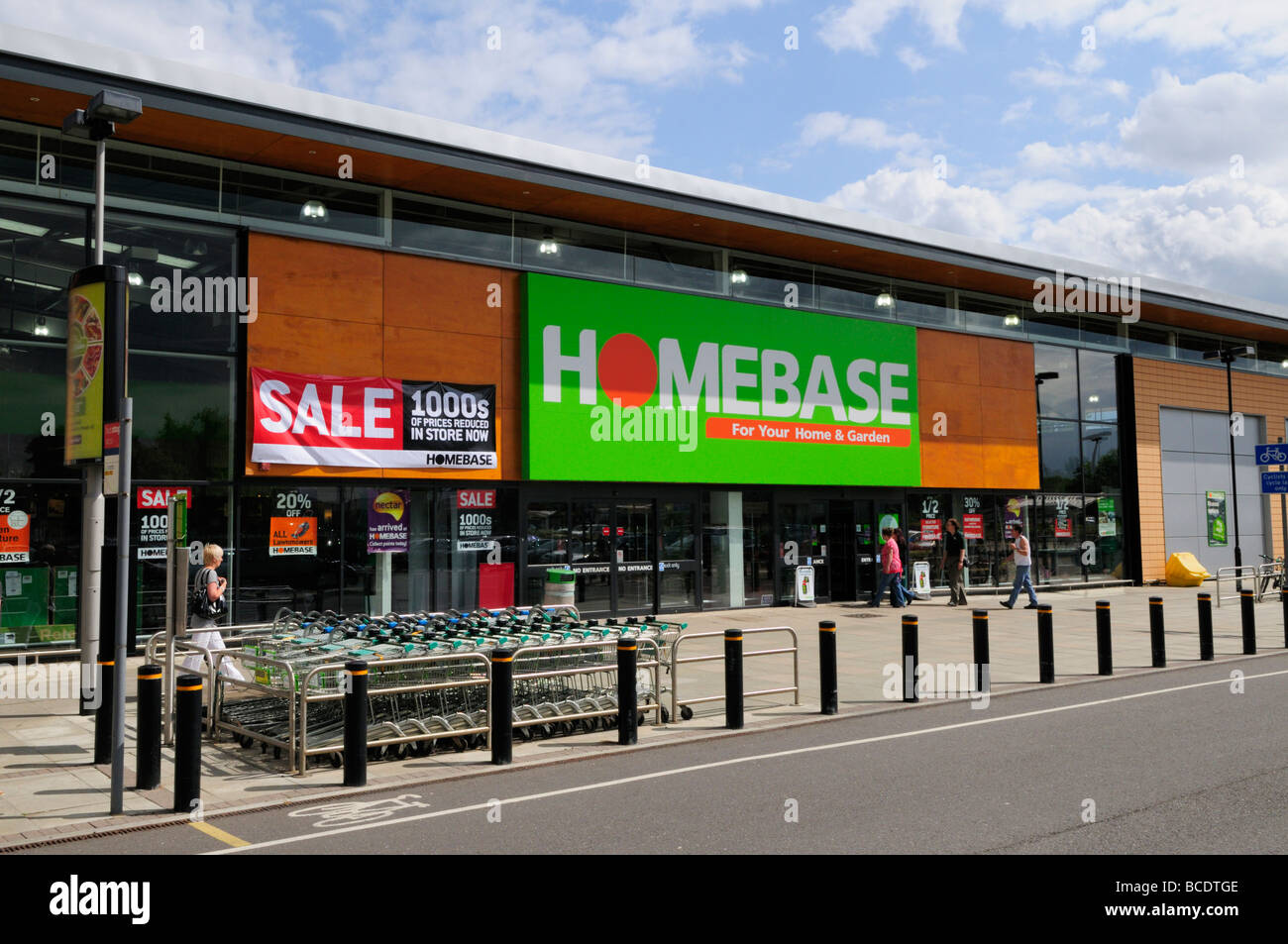 homebase home and garden centre with sale notice. Black Bedroom Furniture Sets. Home Design Ideas