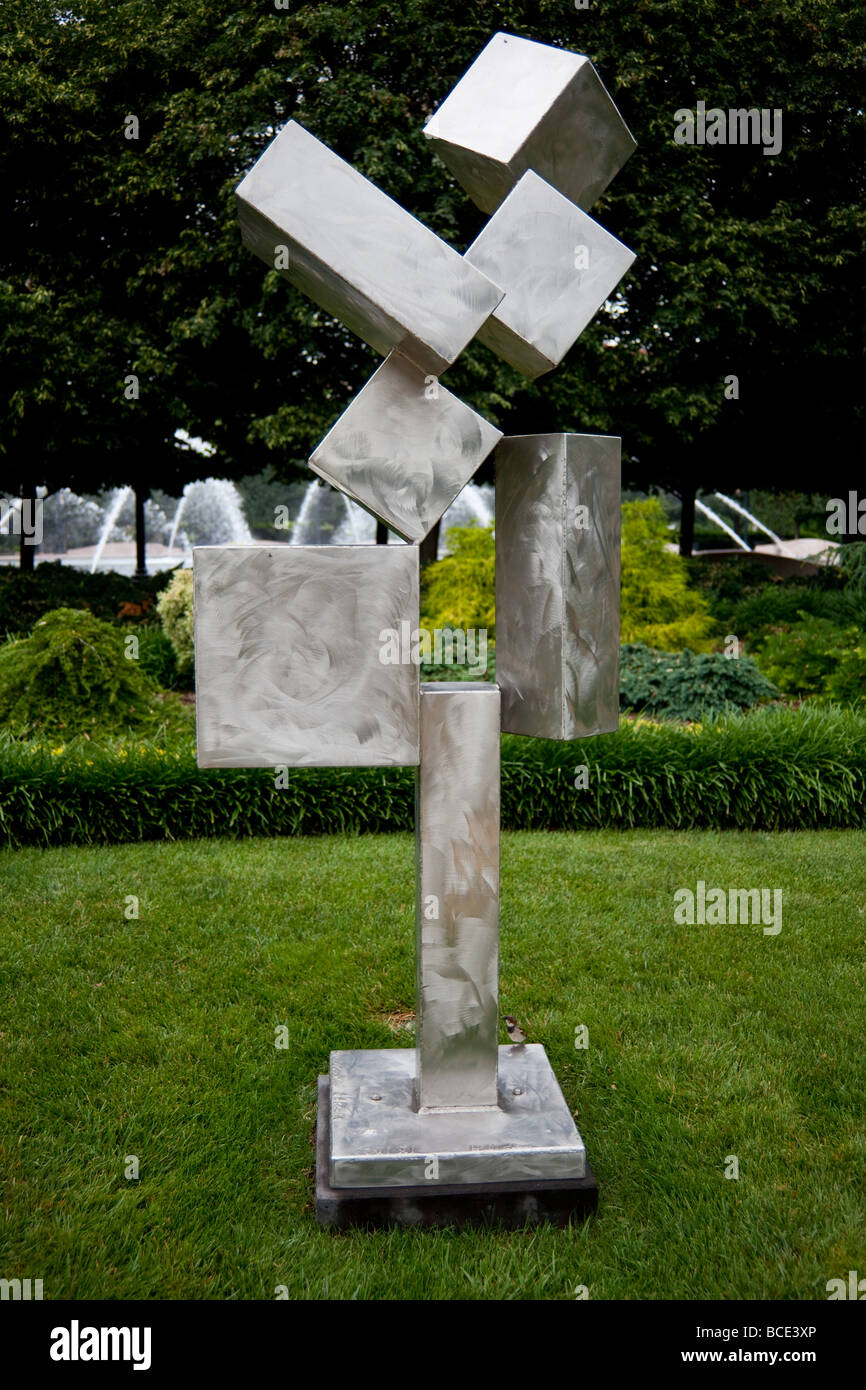 Cubi Xi By David Smith National Gallery Of Art Sculpture Garden Stock Photo Royalty Free Image