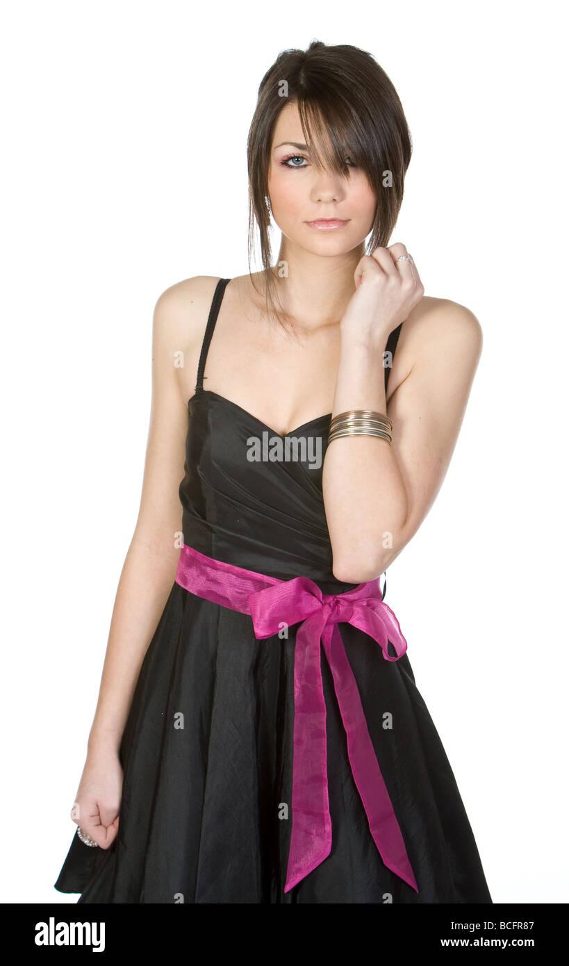 Black dress teenager - Pretty Teenager In Black Dress
