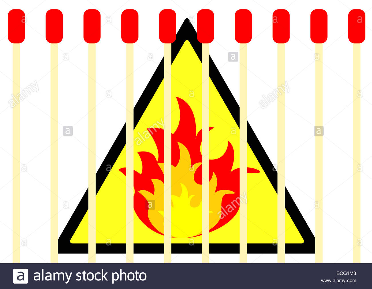 Warning flammable sign symbol with matches stock photo royalty warning flammable sign symbol with matches buycottarizona