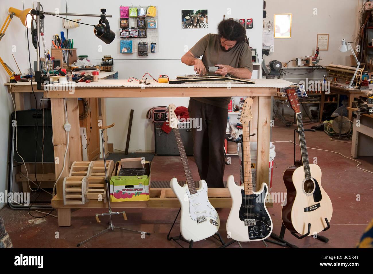 Electric Guitar Repair Workshop Stock Photo Royalty Free Image