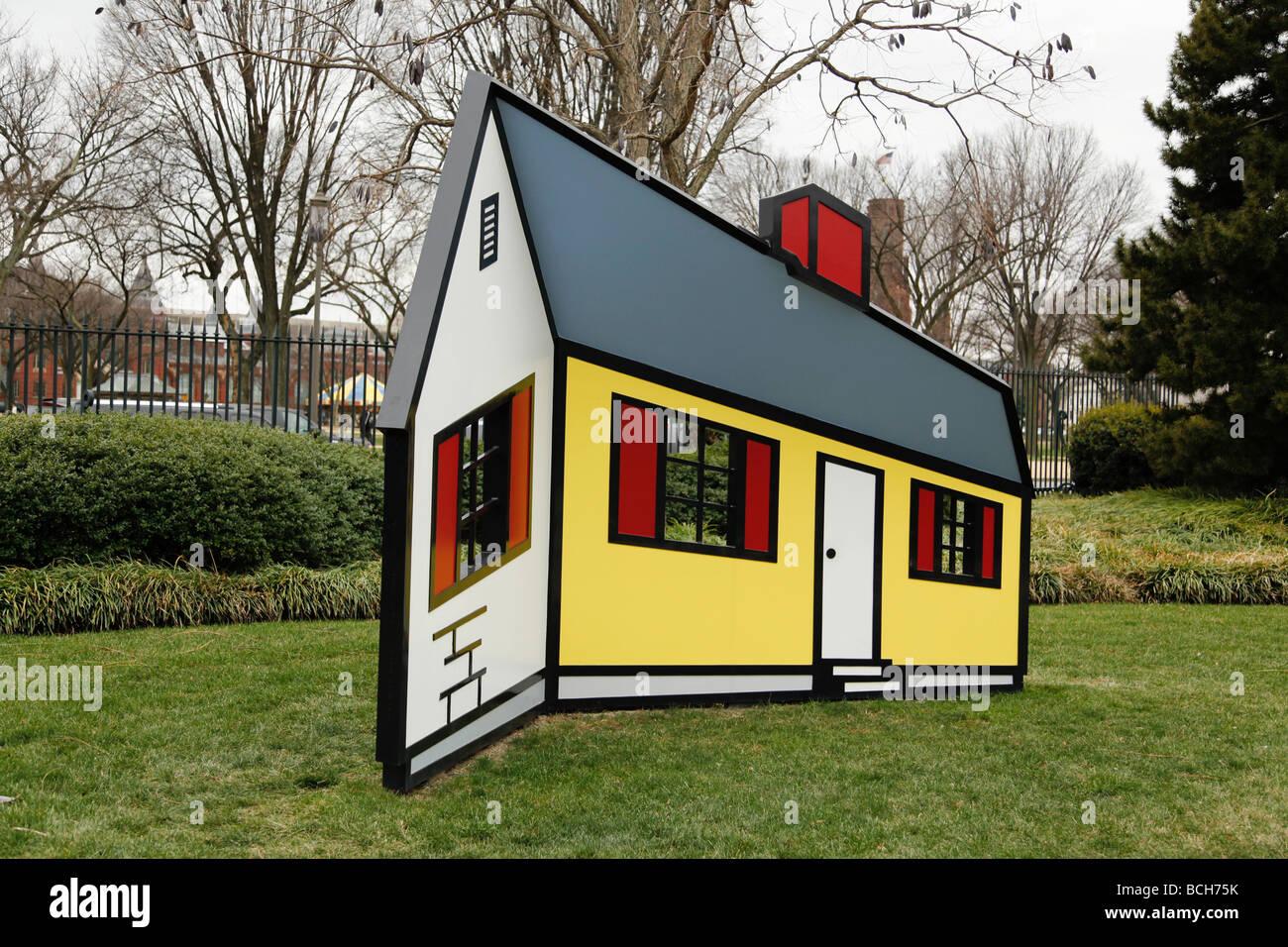 House I by Roy Lichtenstein Washington DC USA Stock Photo: 24965071 ...