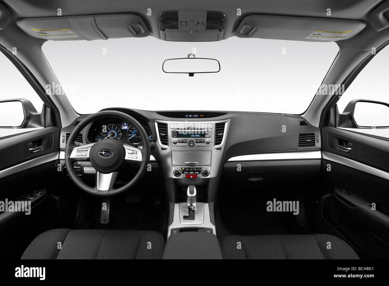 2010 subaru outback premium in gray dashboard center console stock photo royalty free. Black Bedroom Furniture Sets. Home Design Ideas