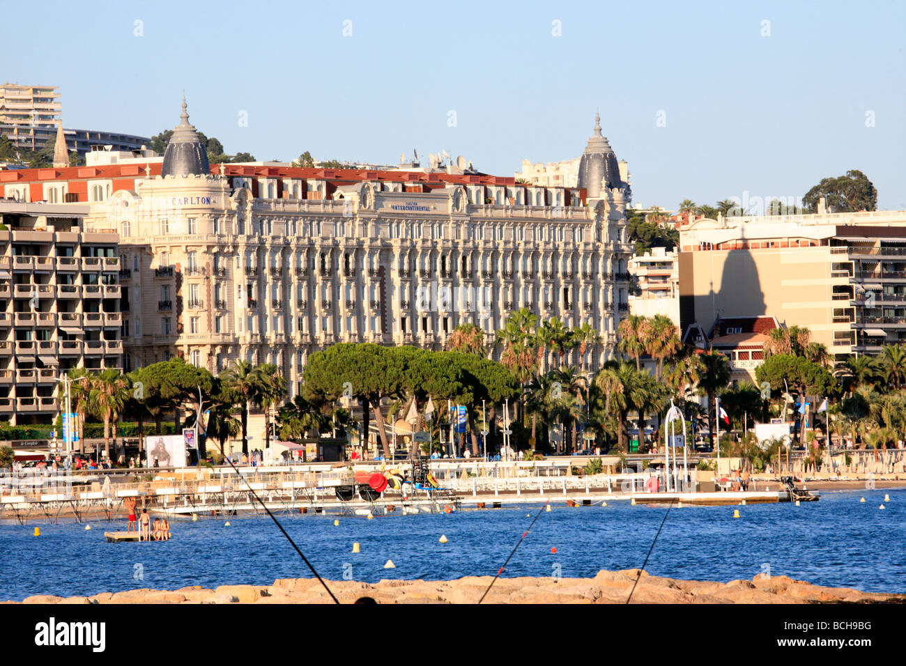 Carlton intercontinental hotel cannes france stock photo for Hotels cannes