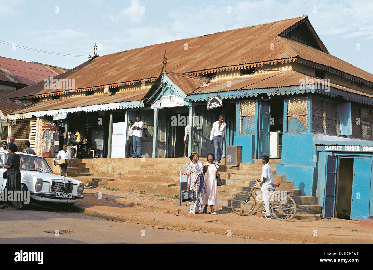 Old fashioned shop near nakasero market kampala uganda east africa stock image
