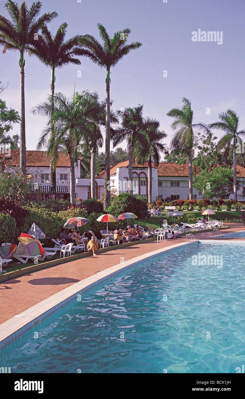 Swimming Pool And Palm Trees Lake Victoria Hotel Entebbe Uganda East Stock Photo Royalty Free
