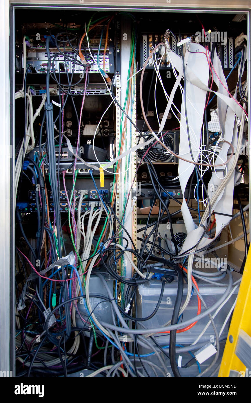 A Tangled Mess Of Computer Wires Inside The Doppler On