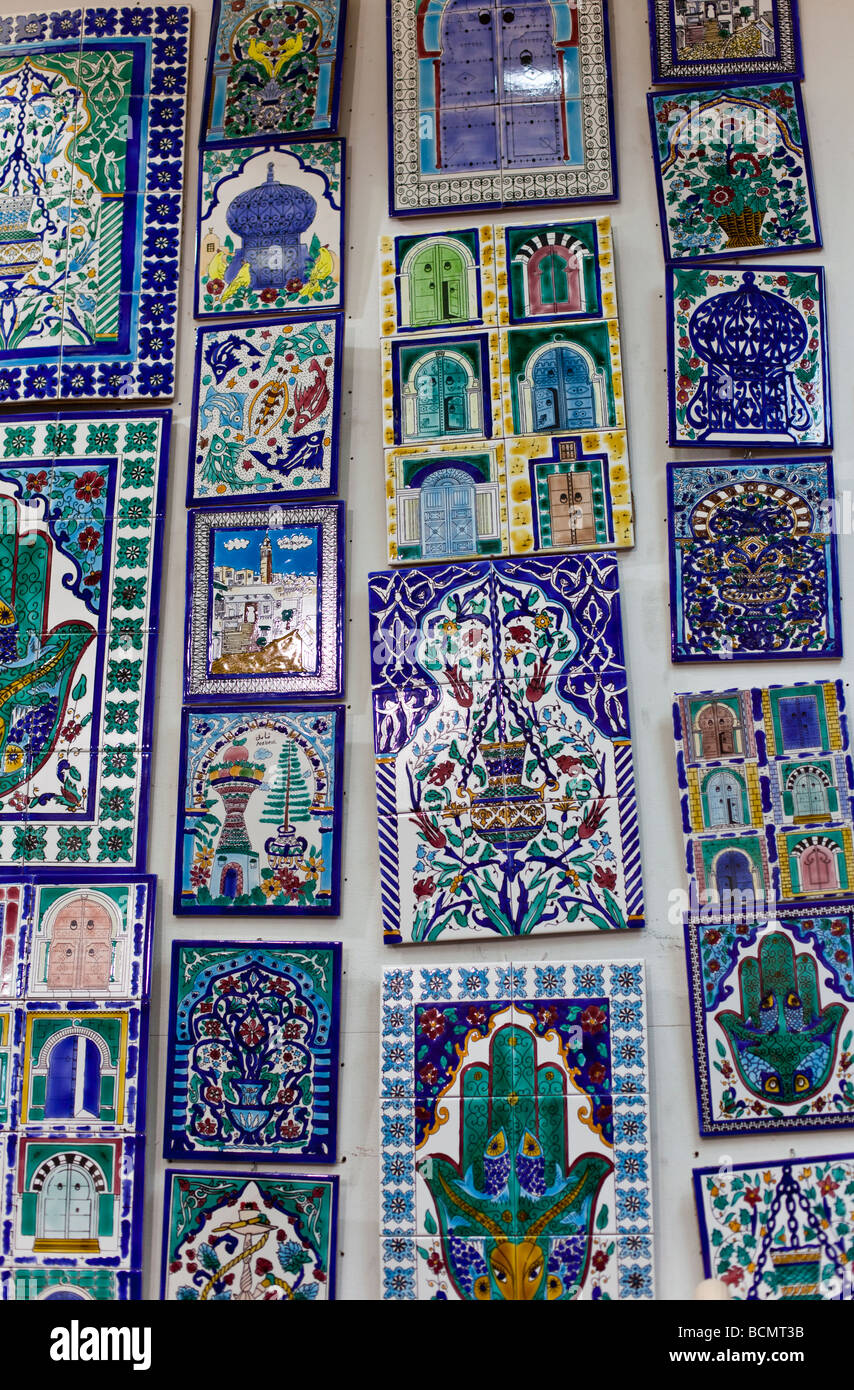 Souvenir tiles stock photos souvenir tiles stock images alamy shops in the tunis medina old city display painted ceramic tiles for sale dailygadgetfo Choice Image