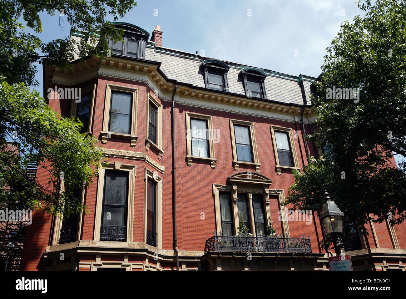 Brick Apartment Building, Back Bay, Boston, Massachusetts   Stock Image Part 34