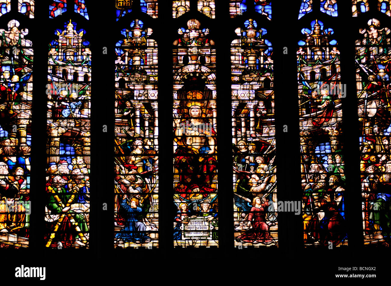Detail Of The West Stained Glass Window In Kings College