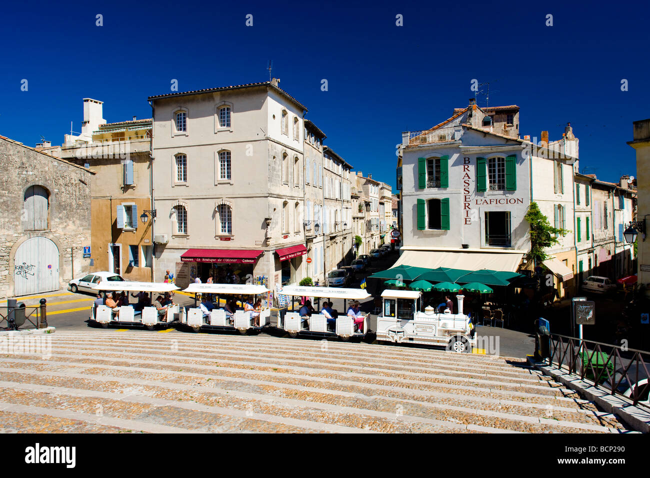 tourist train arles provence france stock photo royalty free image 25071004 alamy. Black Bedroom Furniture Sets. Home Design Ideas
