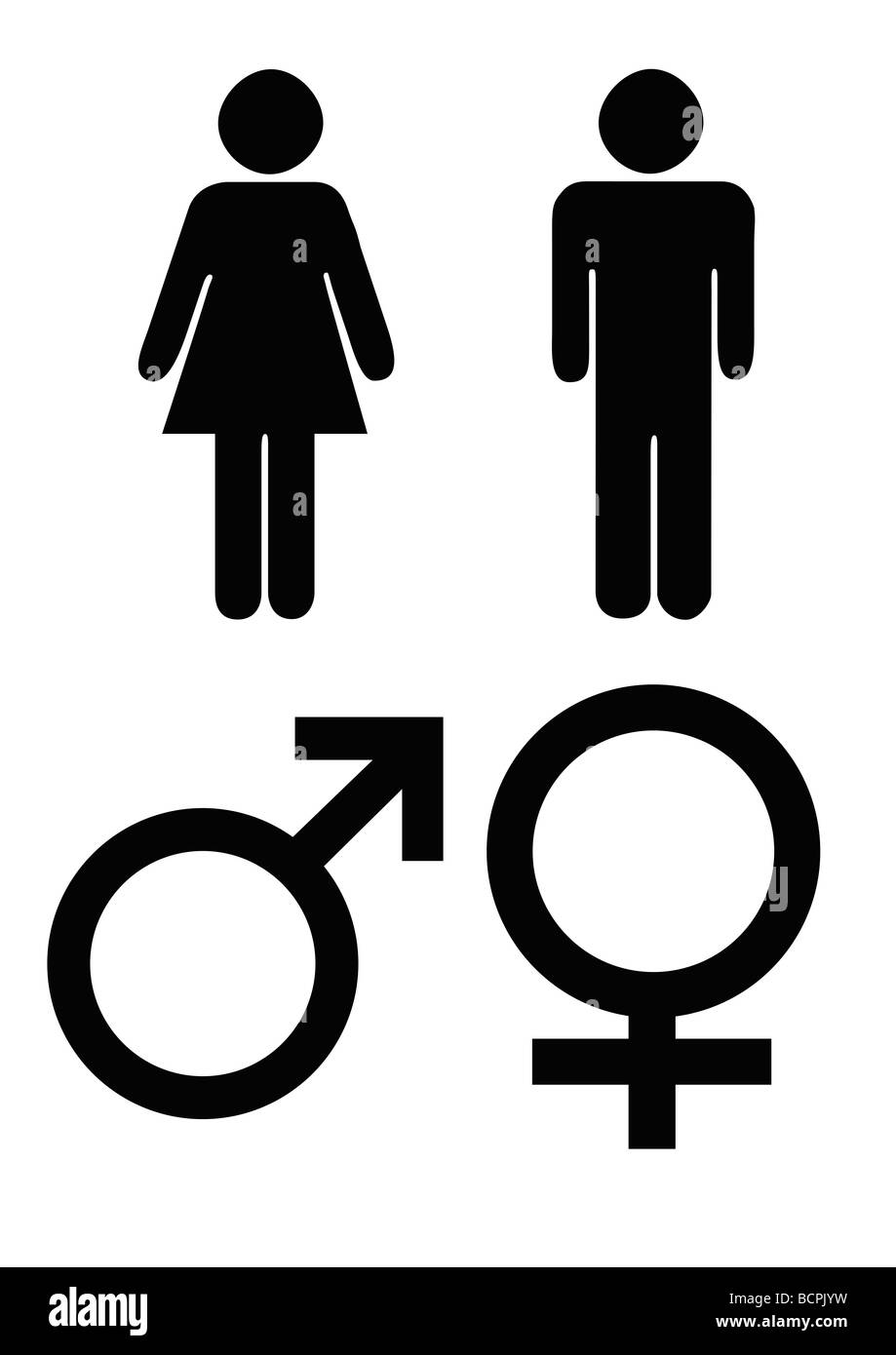 Male and female gender symbols in black silhouette isolated on male and female gender symbols in black silhouette isolated on white background buycottarizona