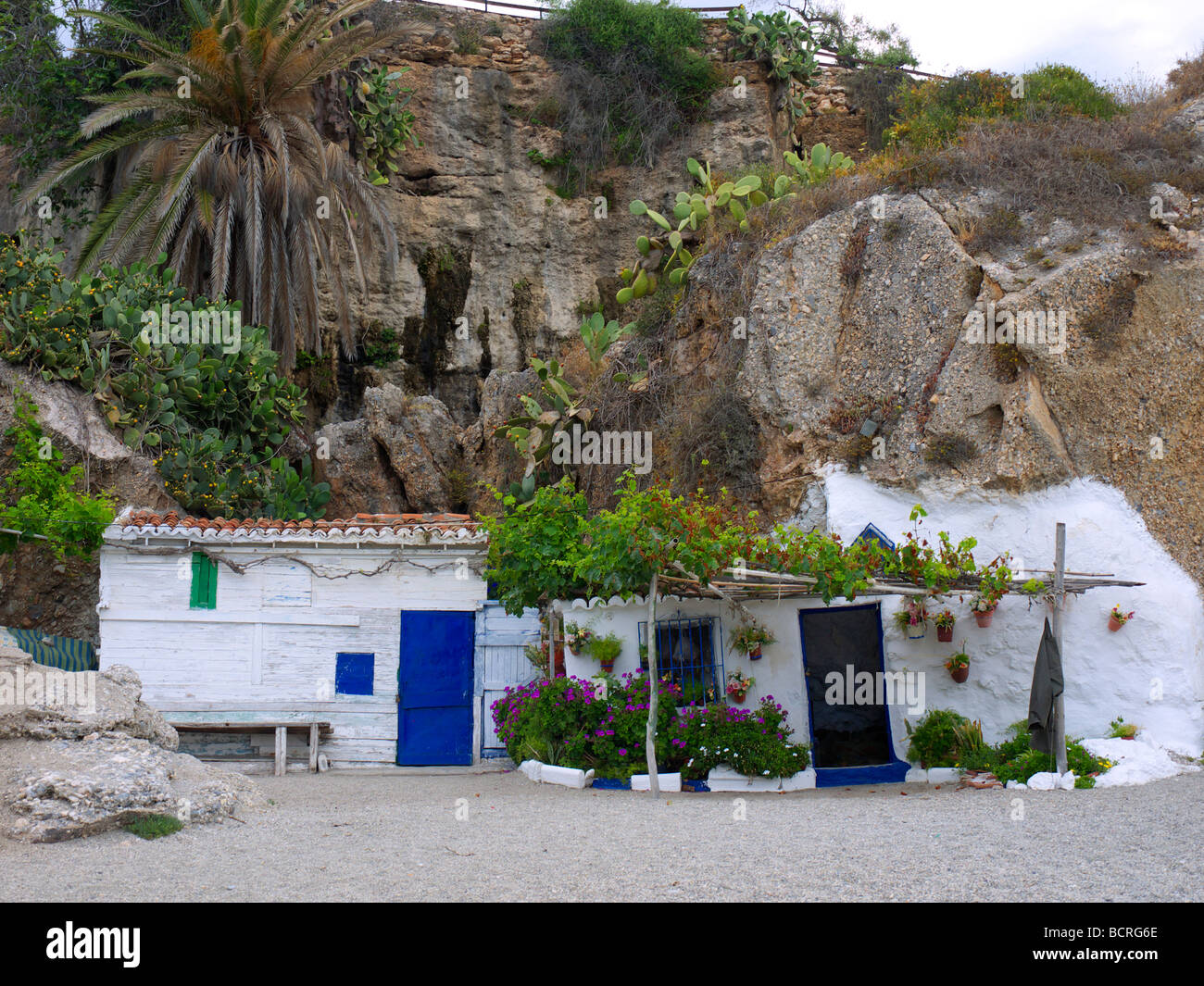 Fisherman 39 s cottage on beach in nerja a sleepy spanish holiday stock photo royalty free image - The fishermans cottage ...