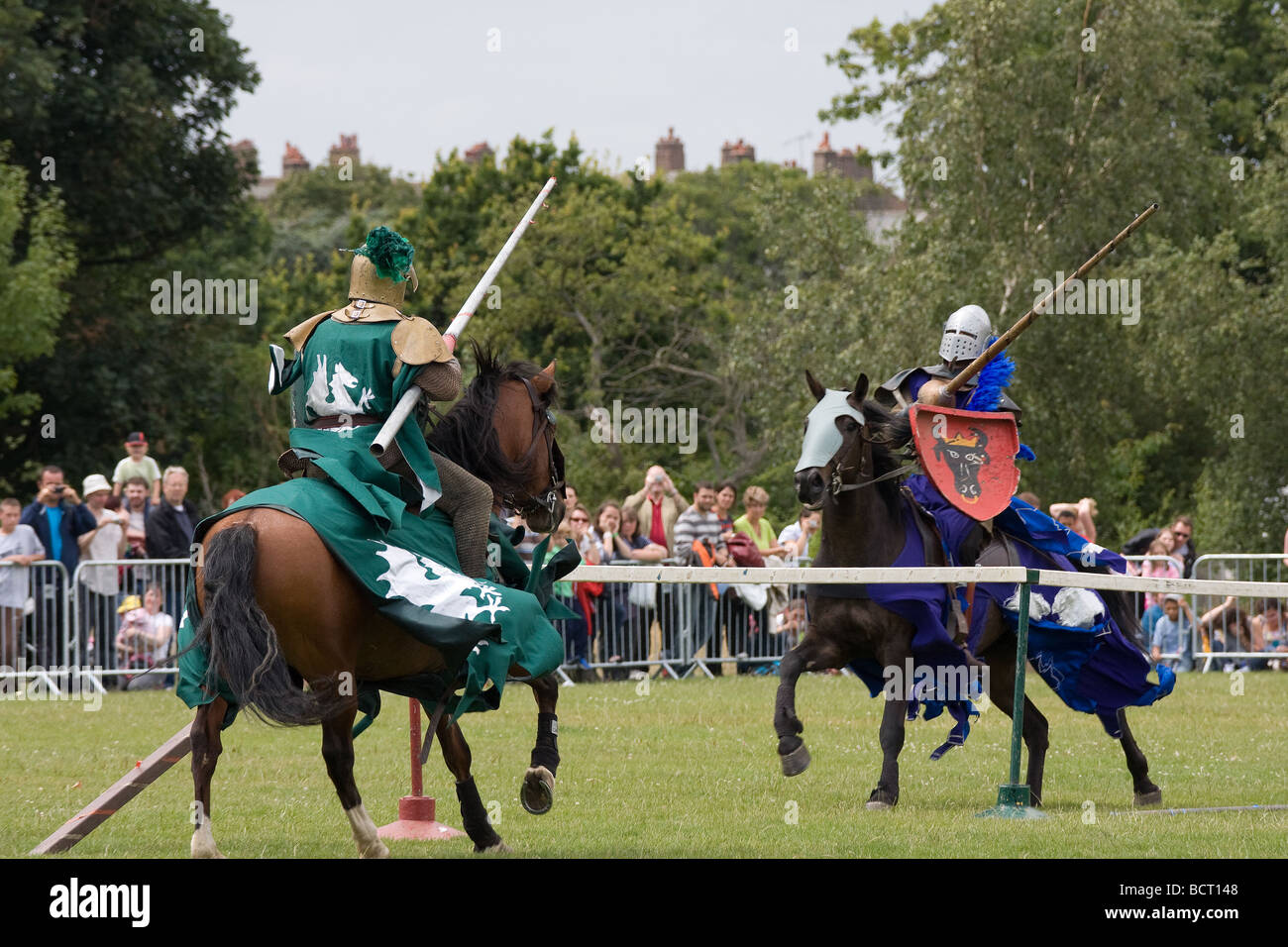 green blue knight joust medieval jousting horses Lambeth ...