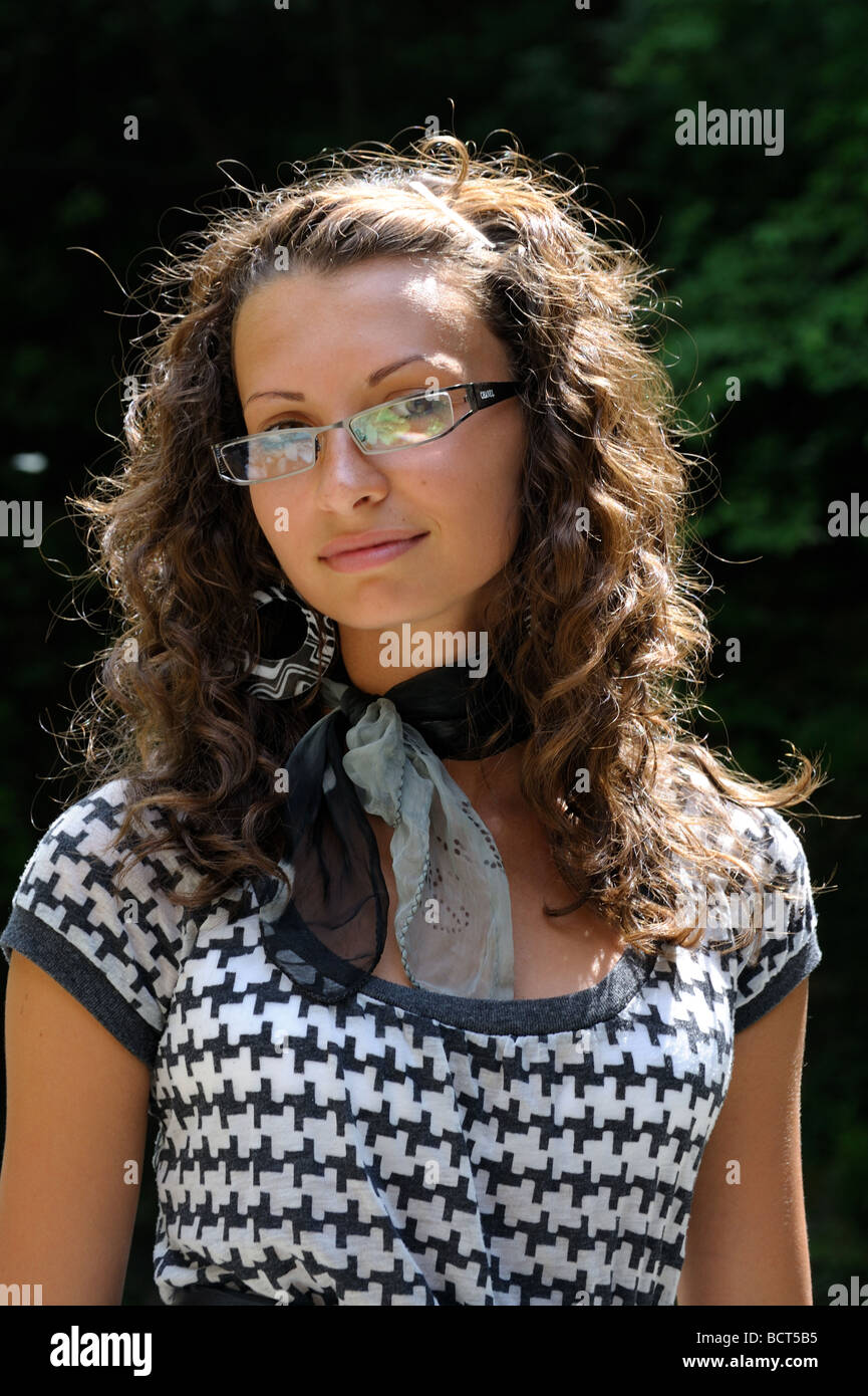 Beautiful Young Girl With Curly Hair Stock Image - Image: 32217811