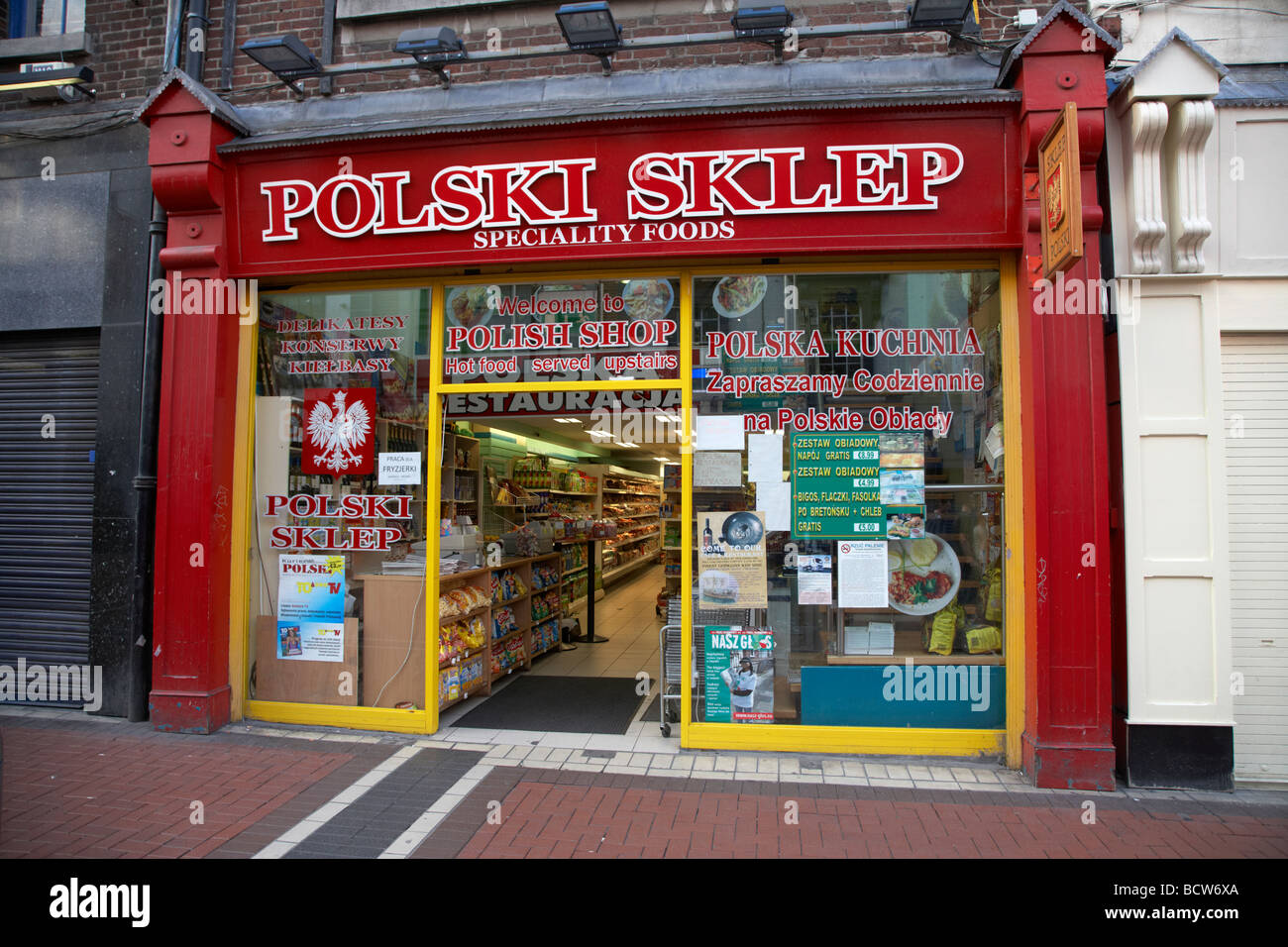 Polish Shop Selling Speciality Eastern European Foods For Immigrants Stock Photo Royalty Free