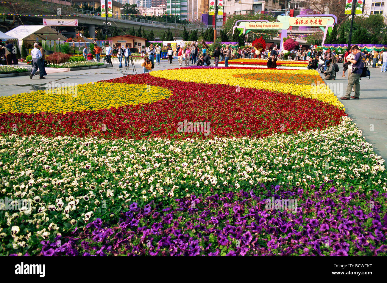 Garden By The Bay Flower Show causeway bay, hong kong flower show, hong kong, china stock photo