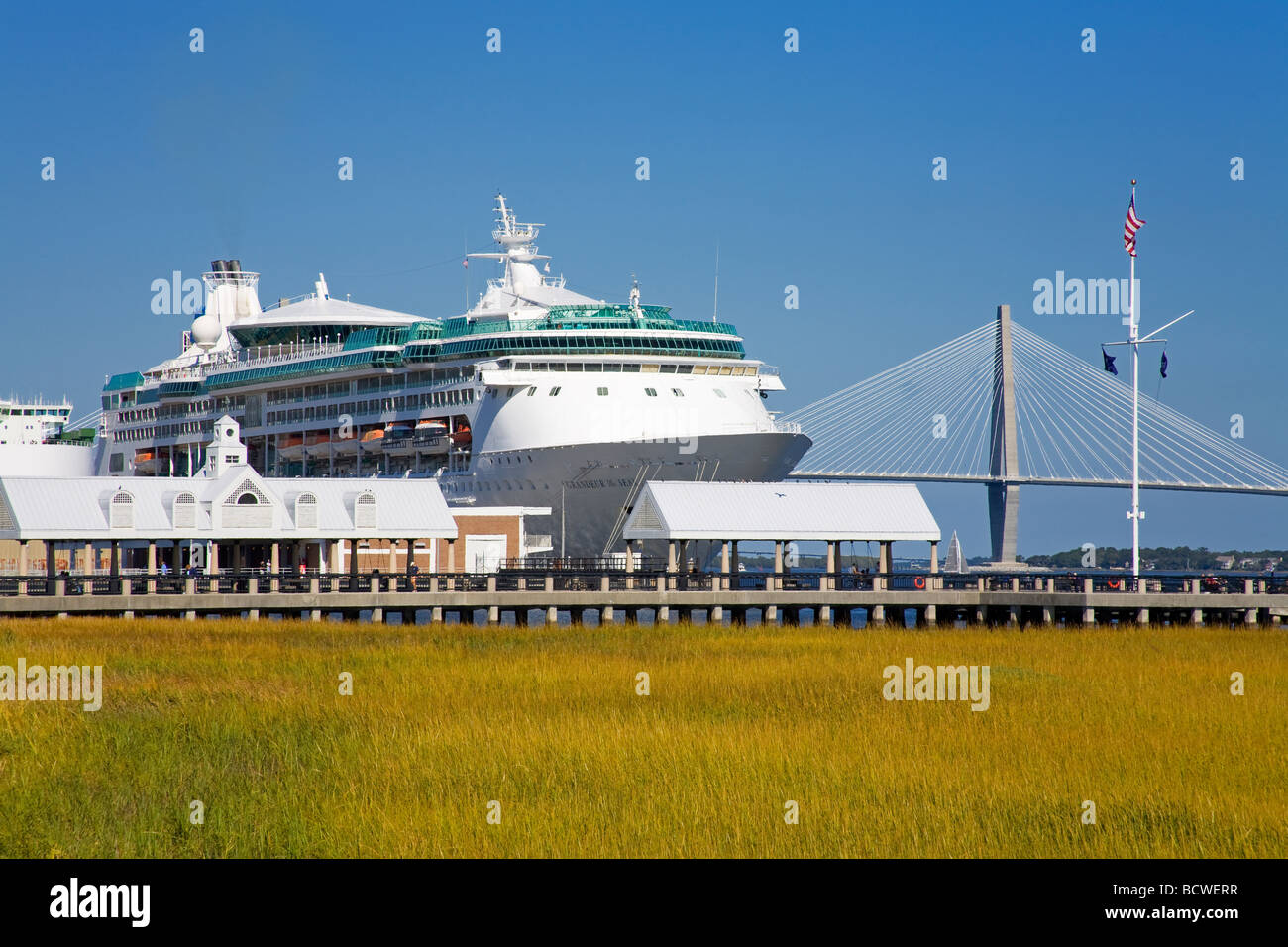 Cruise Ship At A Port Charleston South Carolina USA Stock Photo - Cruise ships out of charleston south carolina