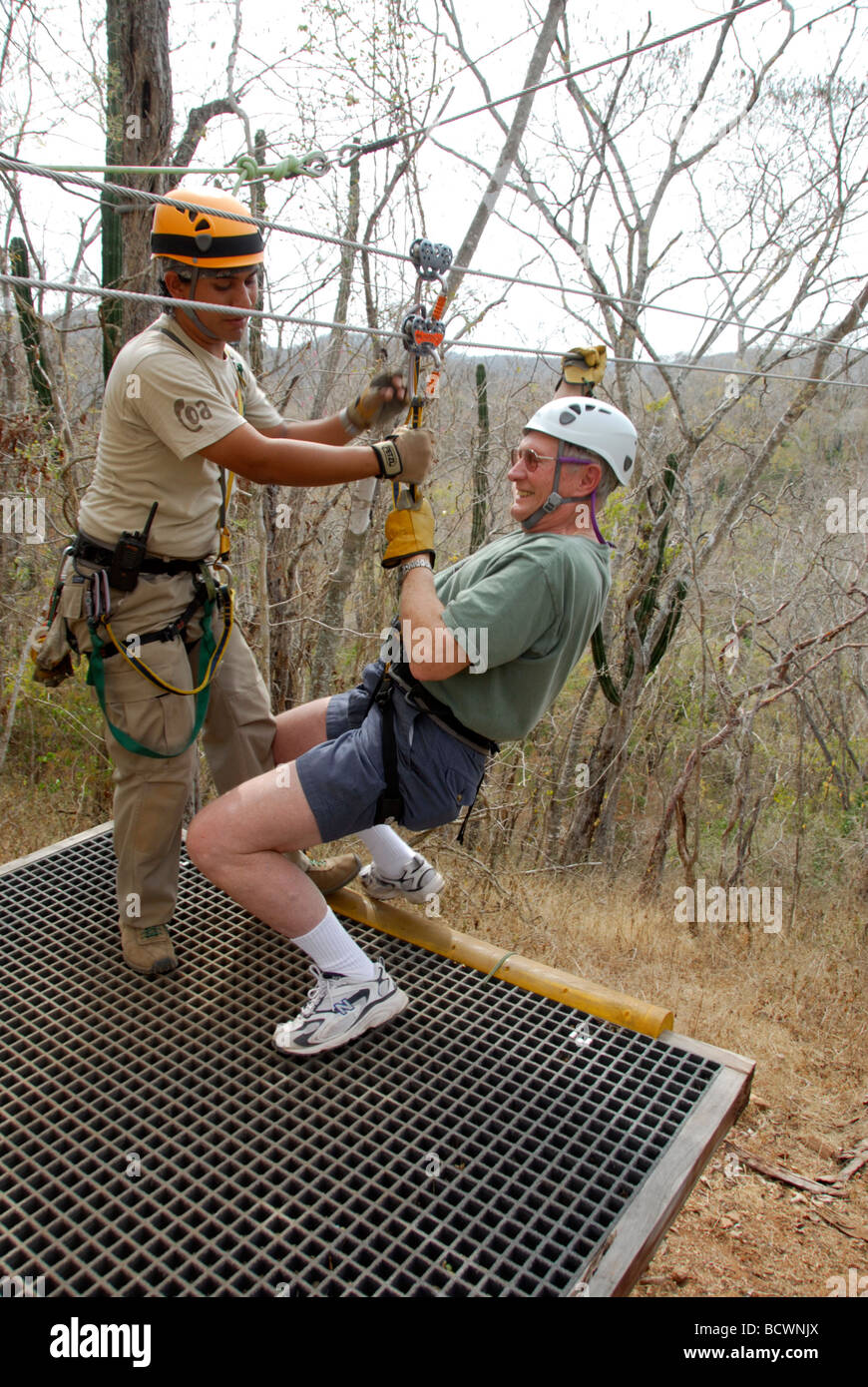 Ziplining in the tree tops in Huana Coa Canopy Adventure in Mazatlan Mexico & Ziplining in the tree tops in Huana Coa Canopy Adventure in ...