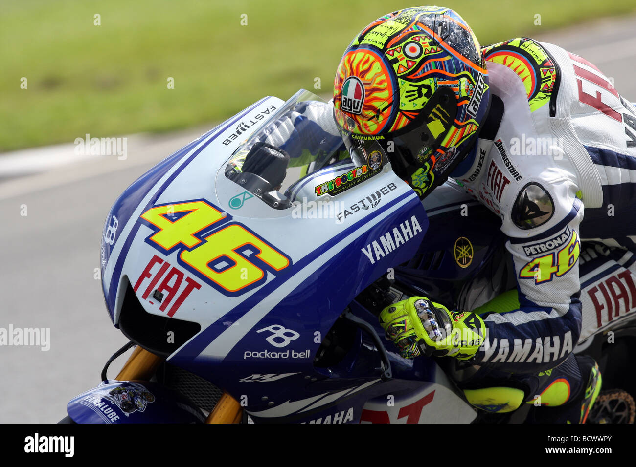 valentino rossi 46 the doctor on his yamaha m1 motogp machine Stock Photo, Royalty Free Image ...