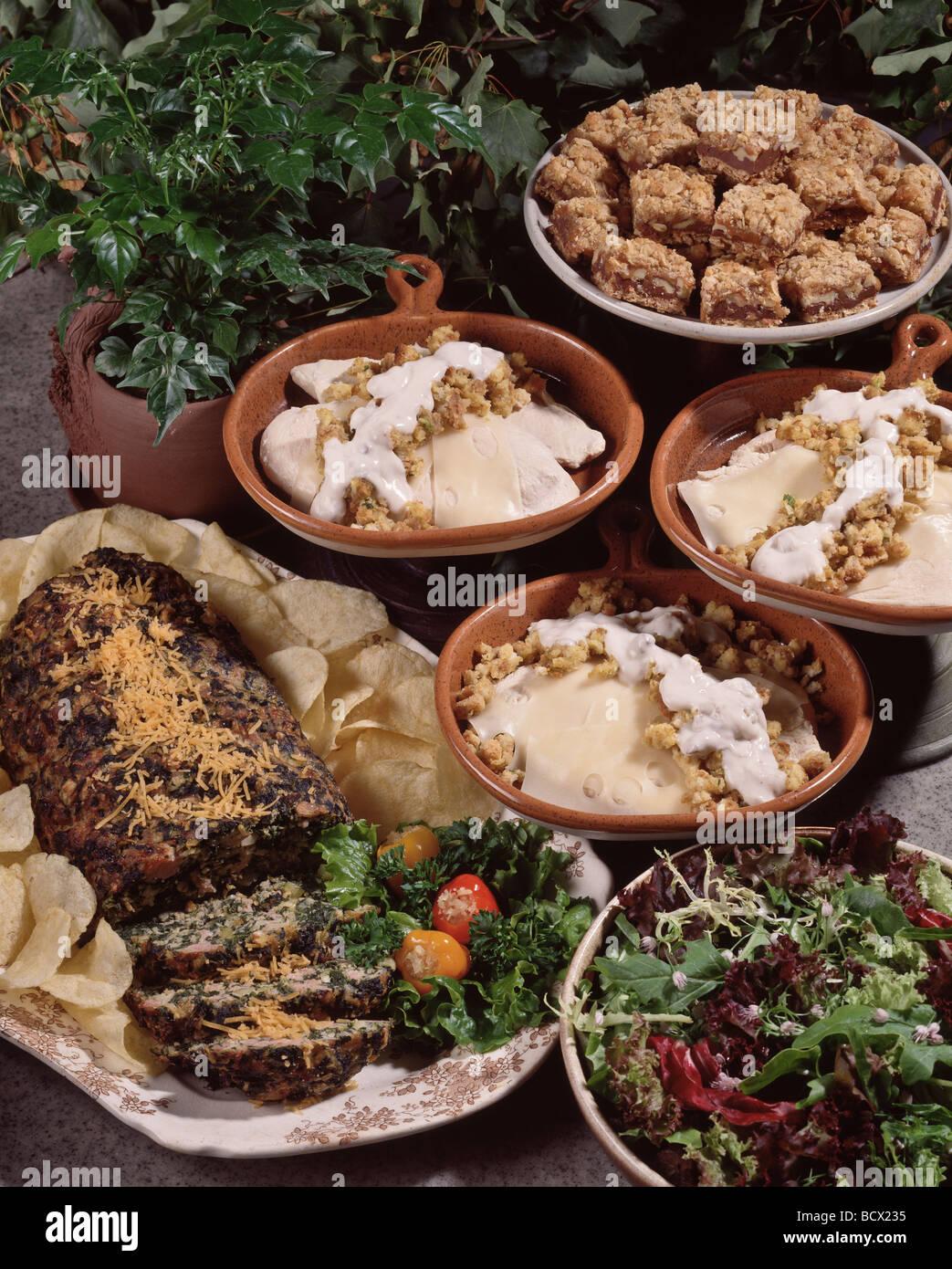 Country Kitchen Recipes Potato Chip Spinach Loaf En Supreme Caramel Squares Dessert
