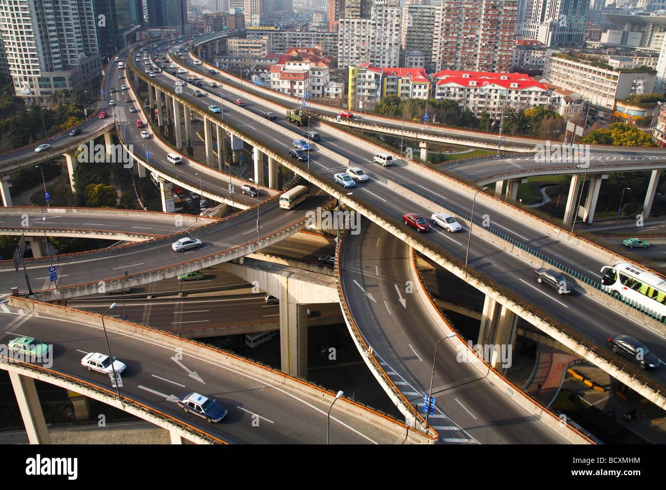 Yanan China  city photos : Yan'an Elevated Road,shanghai,china Stock Photo, Royalty Free Image ...