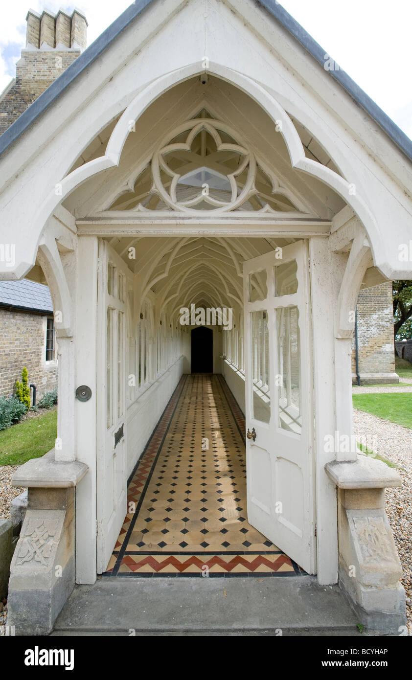 Unusual Front Door Via Long Passage The Grange Home Of Victorian Gothic Architect Augustus Welby Pugin In Ramsgate Kent