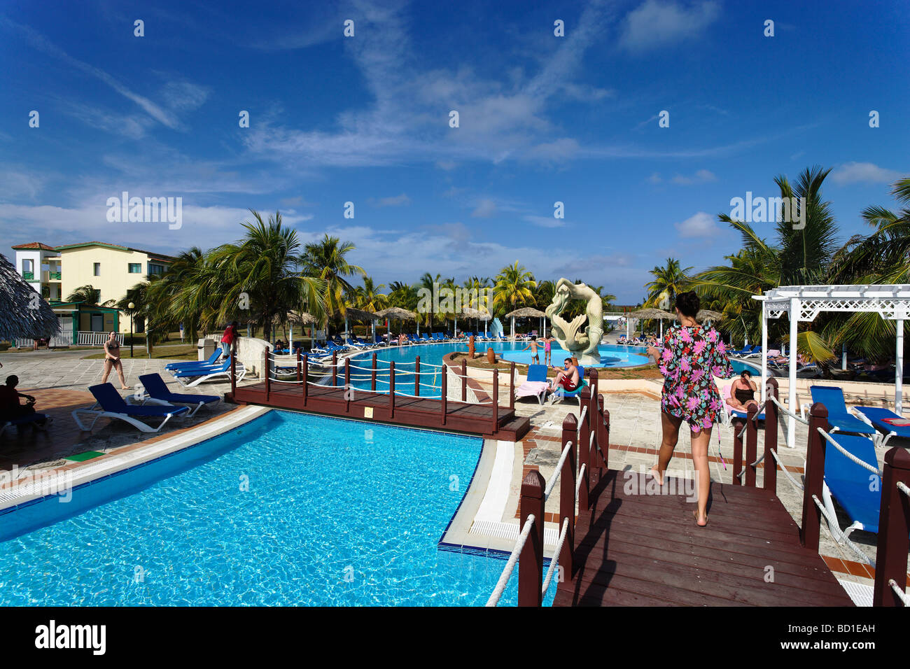 Stock photo swimming pool hotel nh krystal laguna villas and resort cayo coco ciego de avila cuba west indies