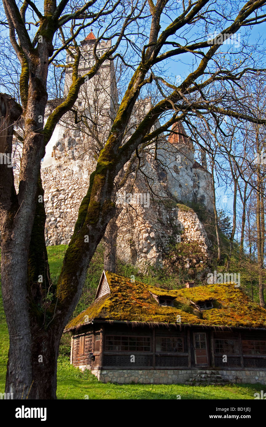 Romanian peasant cottage below bran castle dracula 39 s castle in stock photo royalty free image - Romanian peasant houses ...