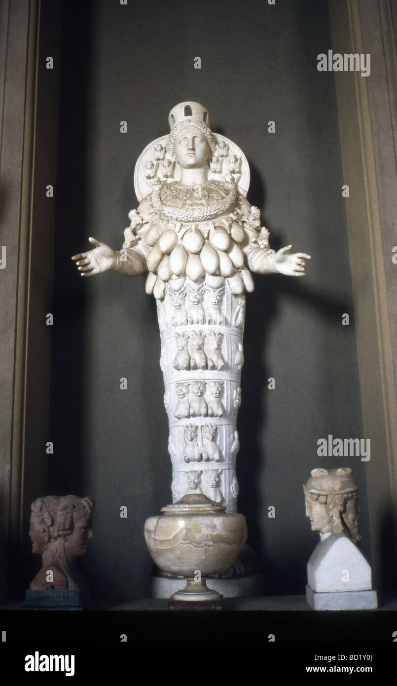 this sculpted cult statue of the greek goddess artemis diana to
