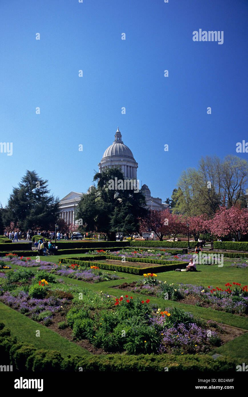 Beautiful Gardens At The State Capitol Grounds State Capital Olympia  Washington USA
