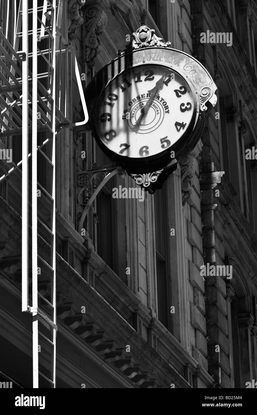 Old clock on a building in tribeca in new york city stock photo old clock on a building in tribeca in new york city amipublicfo Gallery