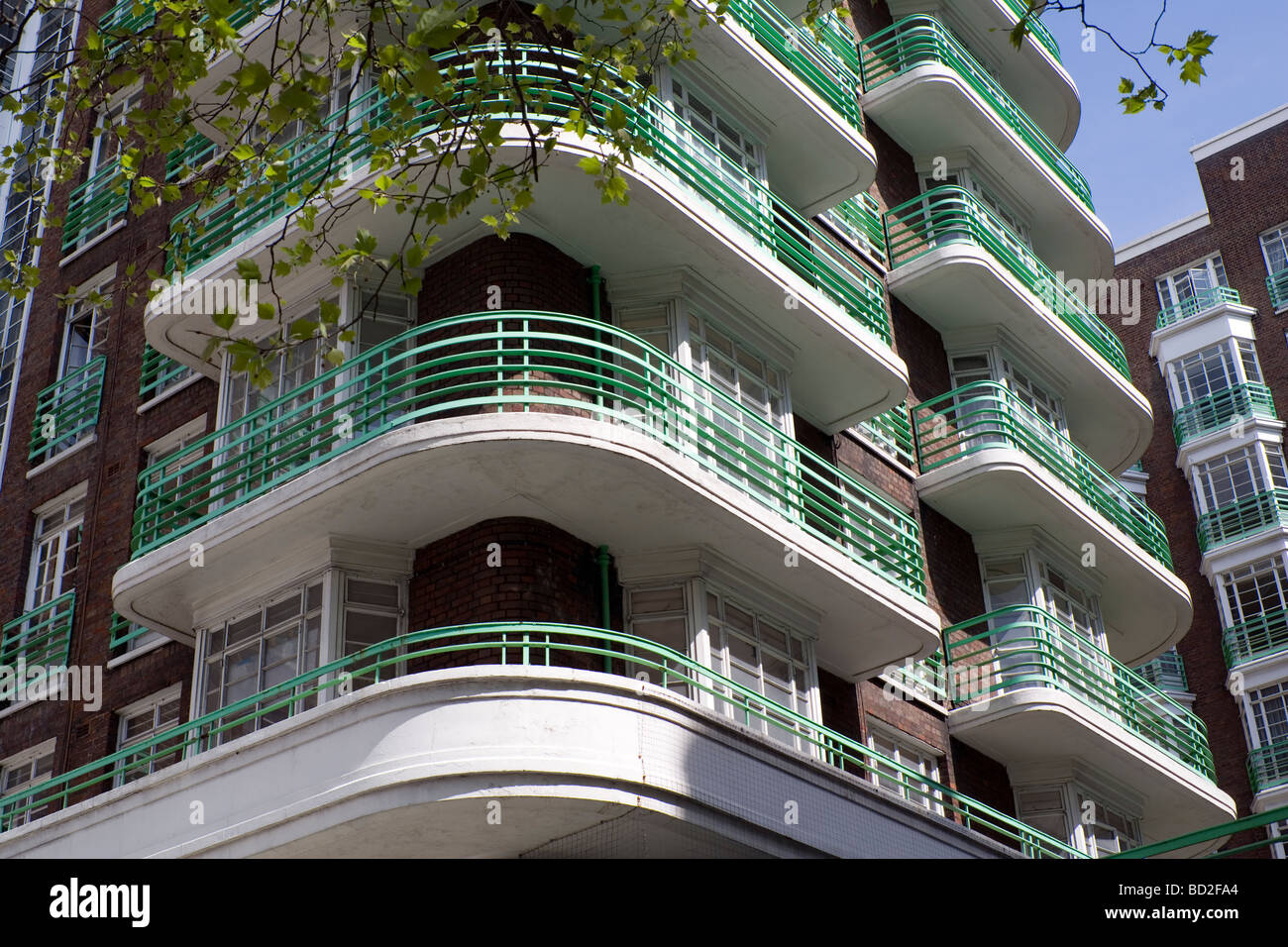 art deco apartment block london england uk europe stock photo 25256844 alamy. Black Bedroom Furniture Sets. Home Design Ideas