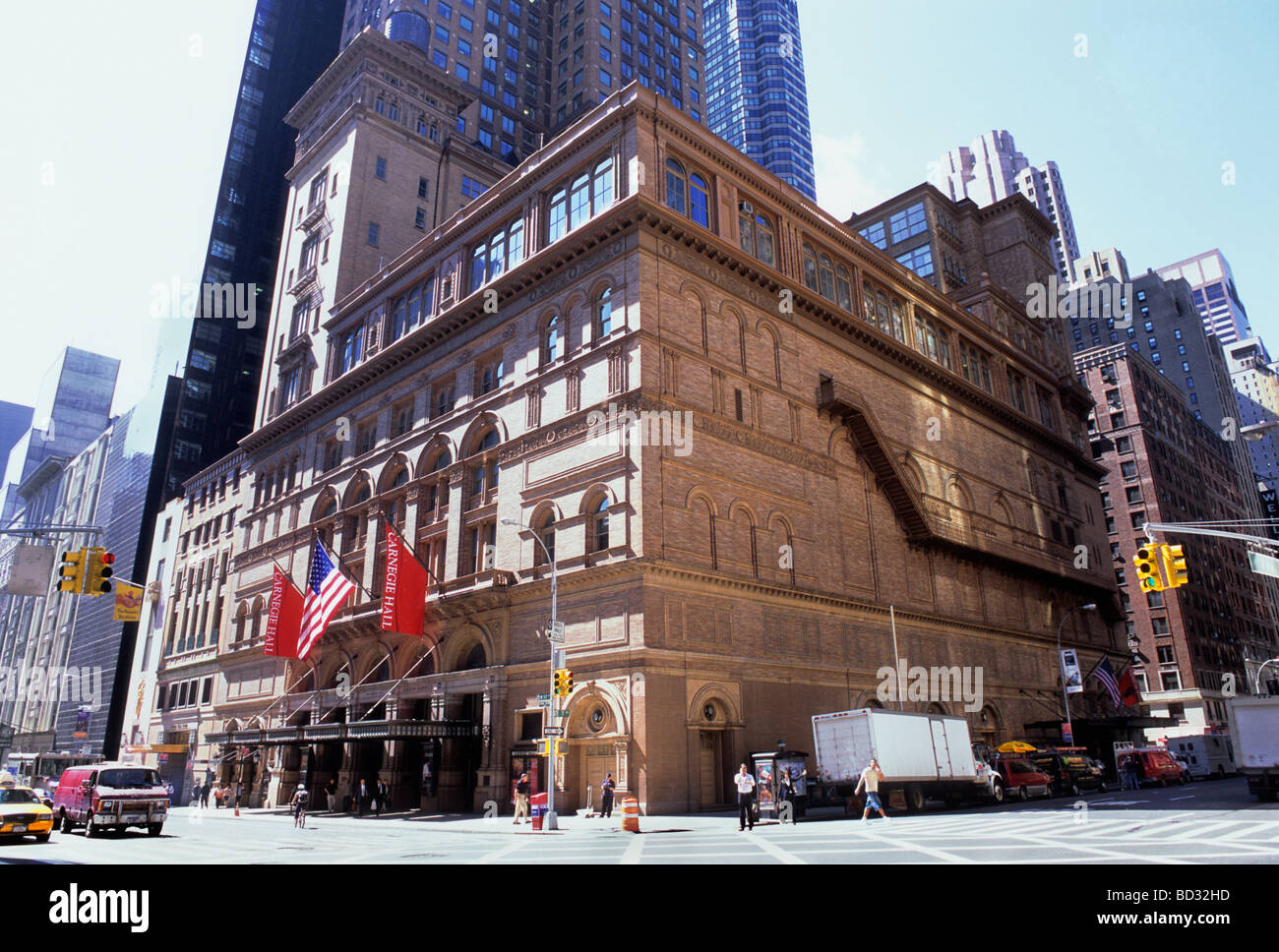 New York City Carnegie Hall Building Exterior and The Russian Tea ...