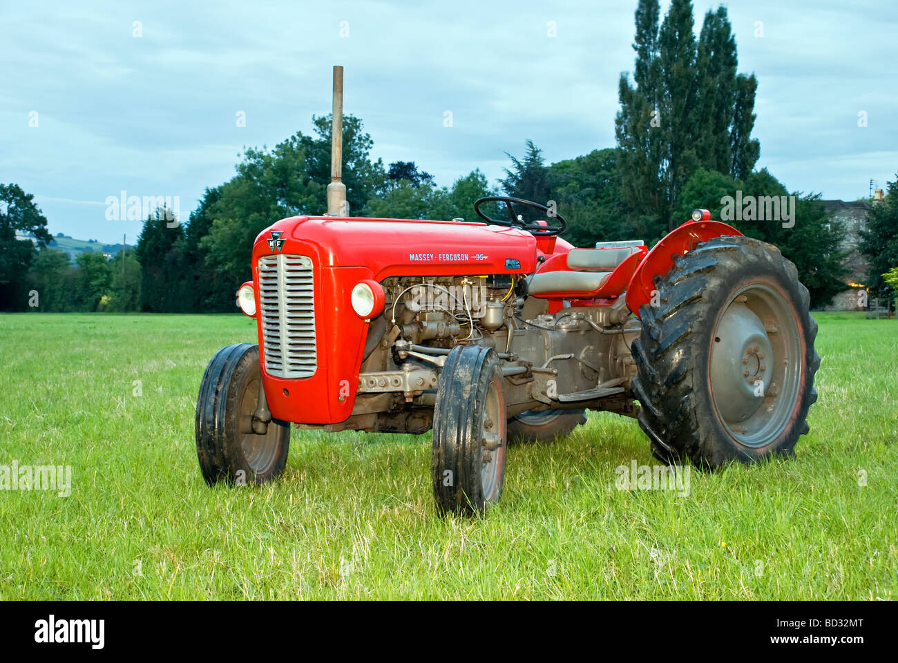 renovated red massey ferguson 35 tractor with taken at. Black Bedroom Furniture Sets. Home Design Ideas