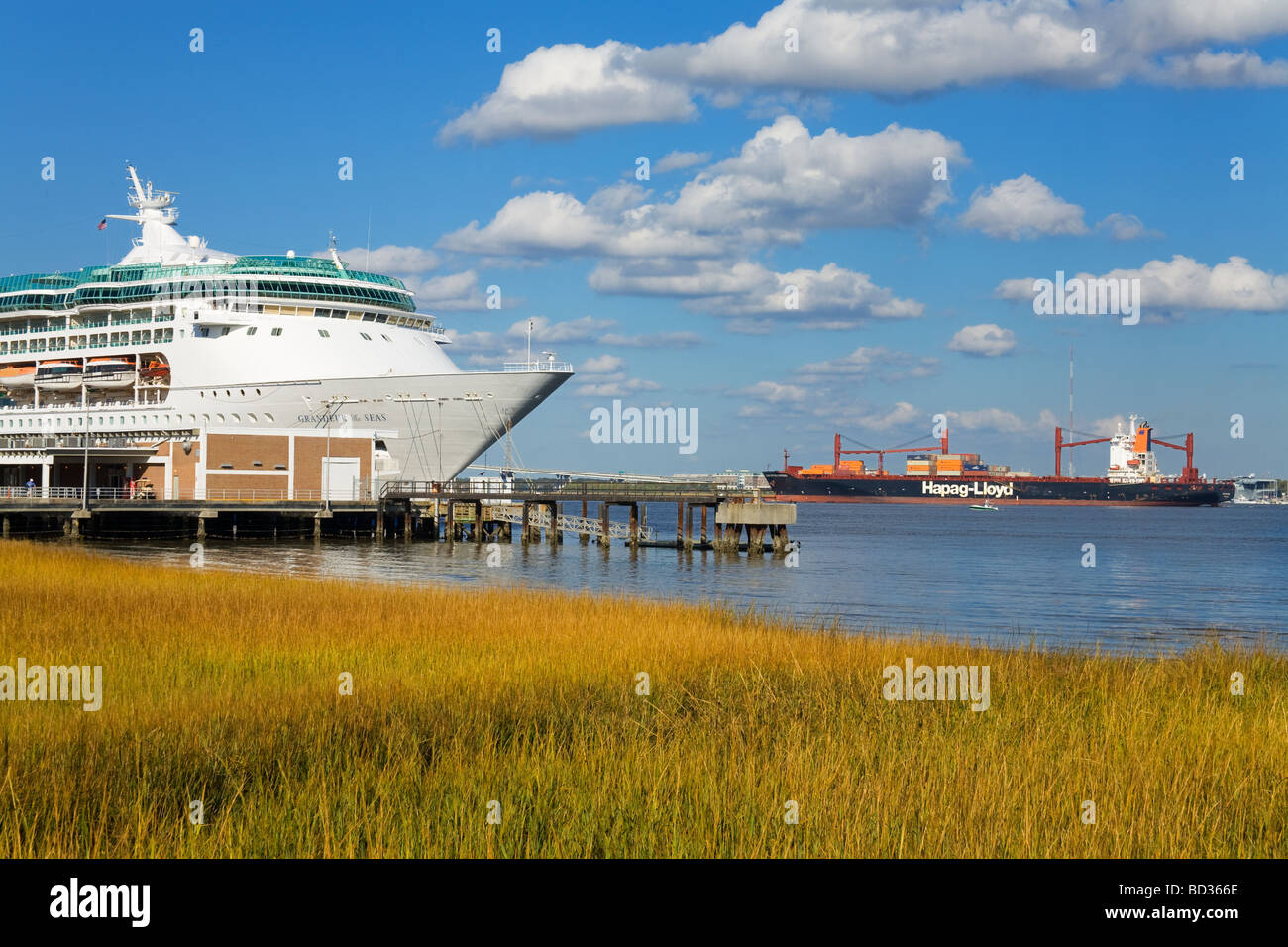 Cruise Ship Terminal Charleston South Carolina USA Stock Photo - Cruise ships out of charleston south carolina