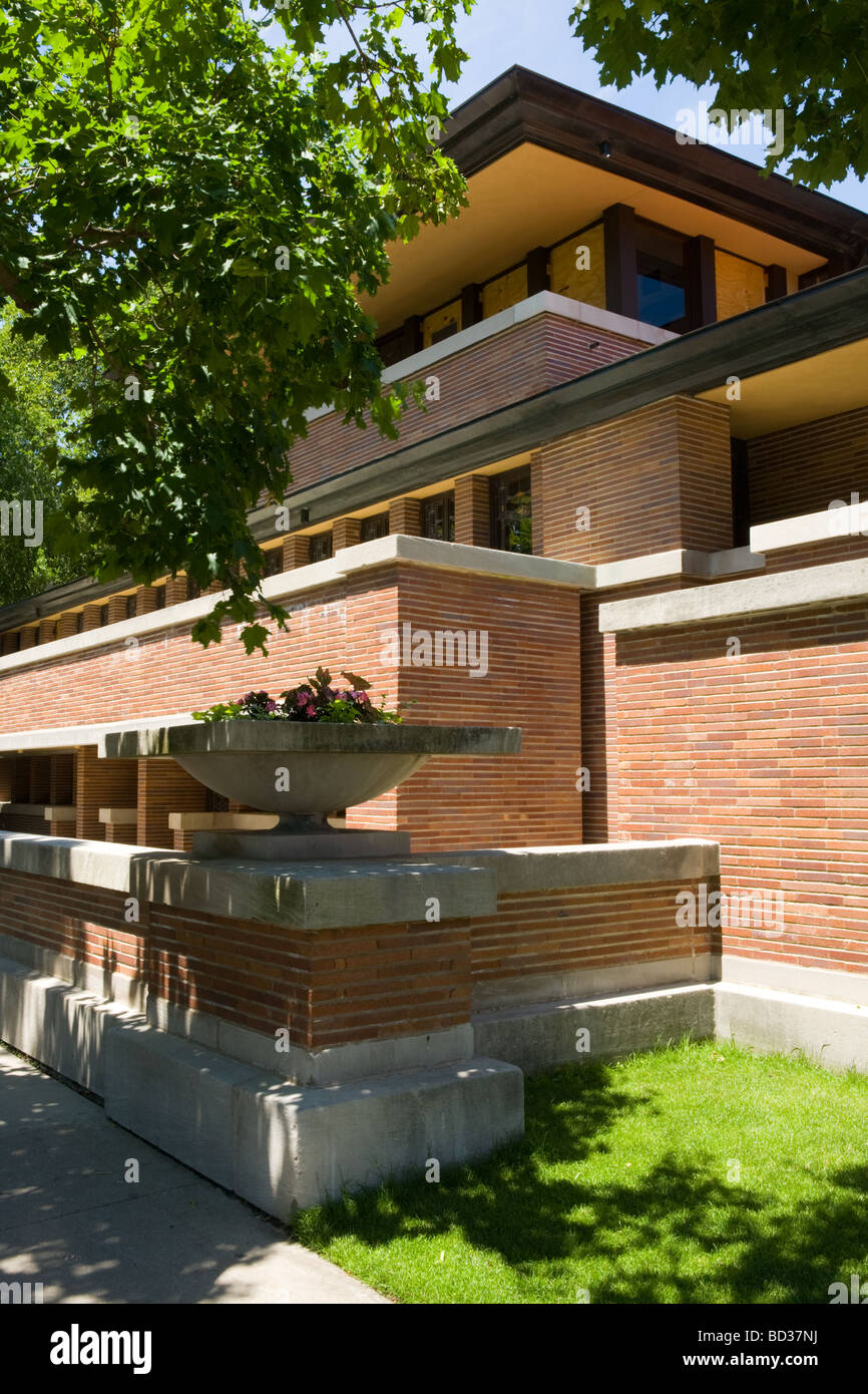 The robie house frank lloyd wright prairie style for Frank lloyd wright stile prateria