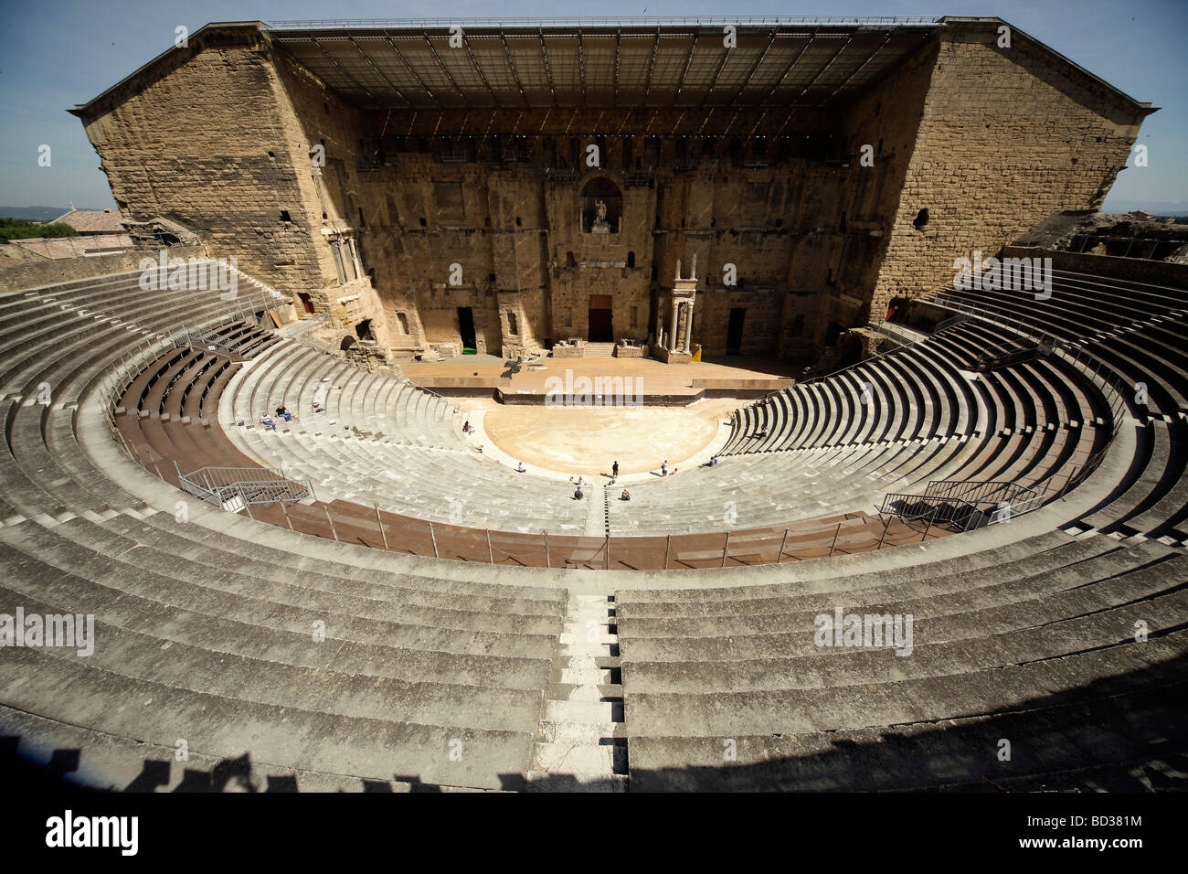 The roman theater from the 1st century ad in orange provence stock the roman theater from the 1st century ad in orange provence france europe publicscrutiny Image collections