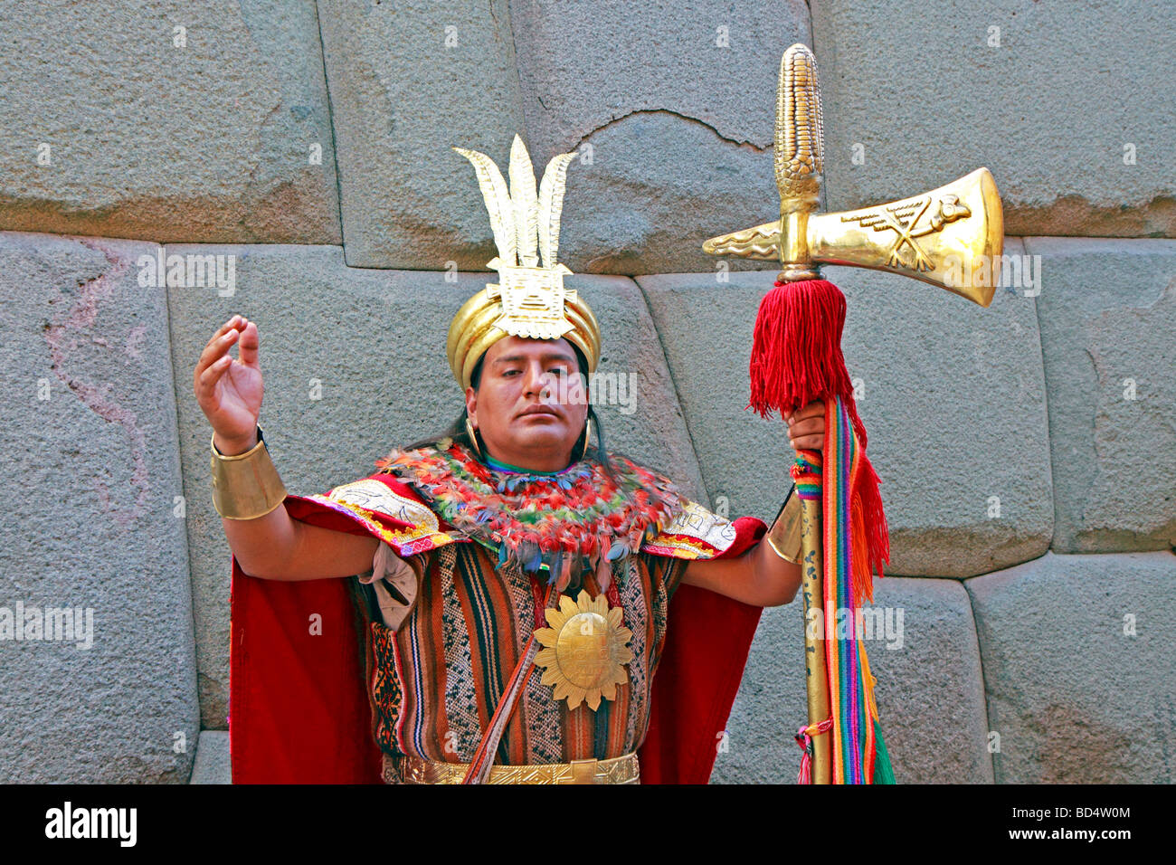 Actor Performing As An Inca Warrior, Calle Hatun Rumiyok ...