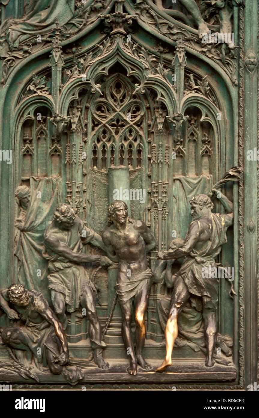 Panels of bronze doors Duomo di Milan Milan Cathedral Milan Lombardy Italy & Panels of bronze doors Duomo di Milan Milan Cathedral Milan ... Pezcame.Com