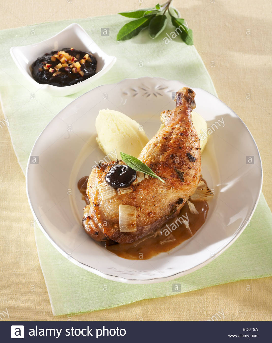 Chicken With Plum Chutney Recipe — Dishmaps