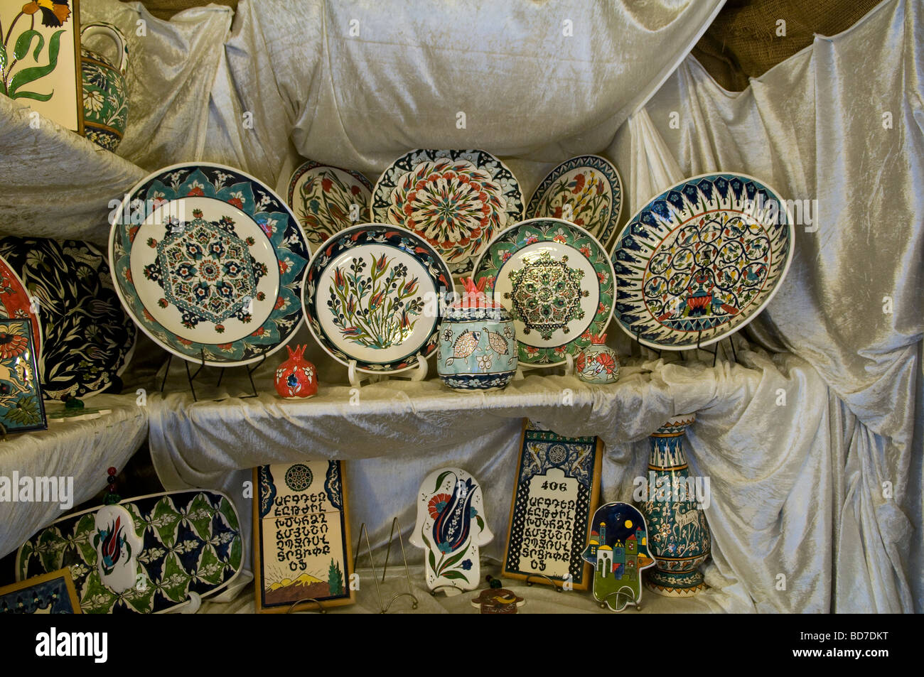 Hand painted ceramic plates at an armenian tile workshop east hand painted ceramic plates at an armenian tile workshop east jerusalem israel dailygadgetfo Images