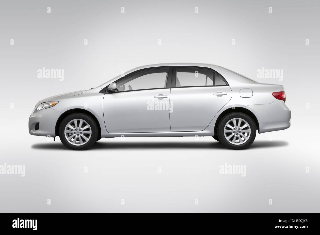 2010 Toyota Corolla XLE in Silver  Drivers Side Profile Stock