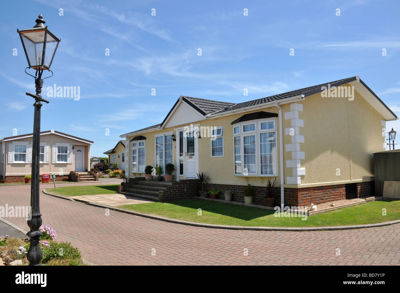 Residential Mobile Home Park In South East England Generally This Type Of Caravan Estate Is