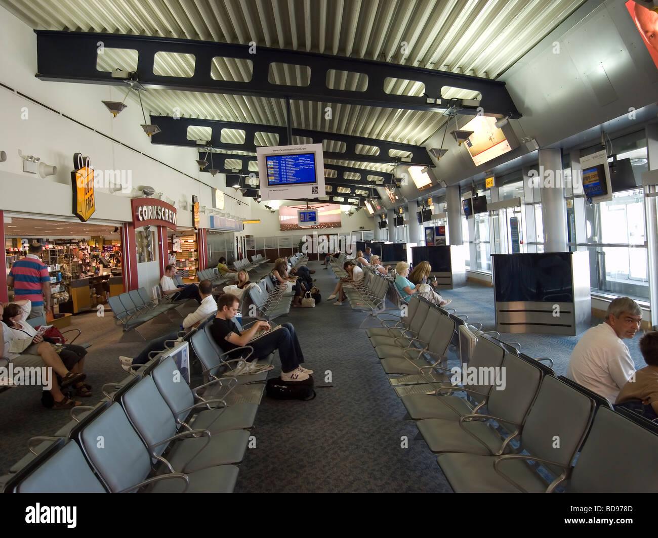 guernsey airport channel islands departure lounge stock. Black Bedroom Furniture Sets. Home Design Ideas