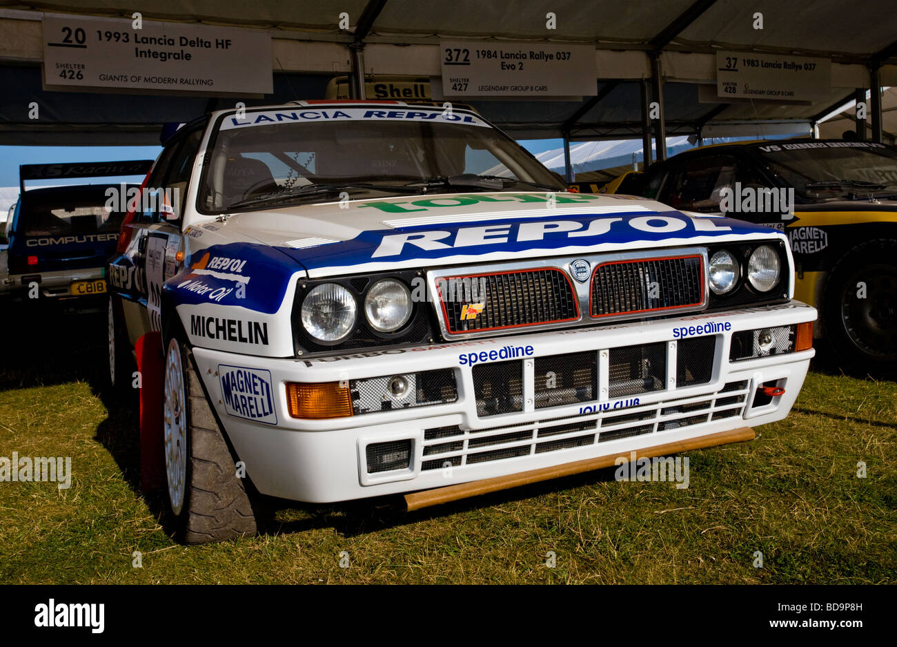 1993 lancia delta hf intergrale rally car in the paddock at 1993 lancia delta hf intergrale rally car in the paddock at goodwood festival of speed sussex uk vanachro Gallery